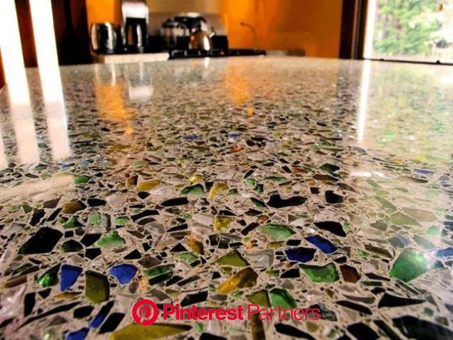 Stained Polished Concrete Contractor Polished Concrete's Amazing Variety The smooth reflecti… | Recycled glass countertops, Poured concrete patio
