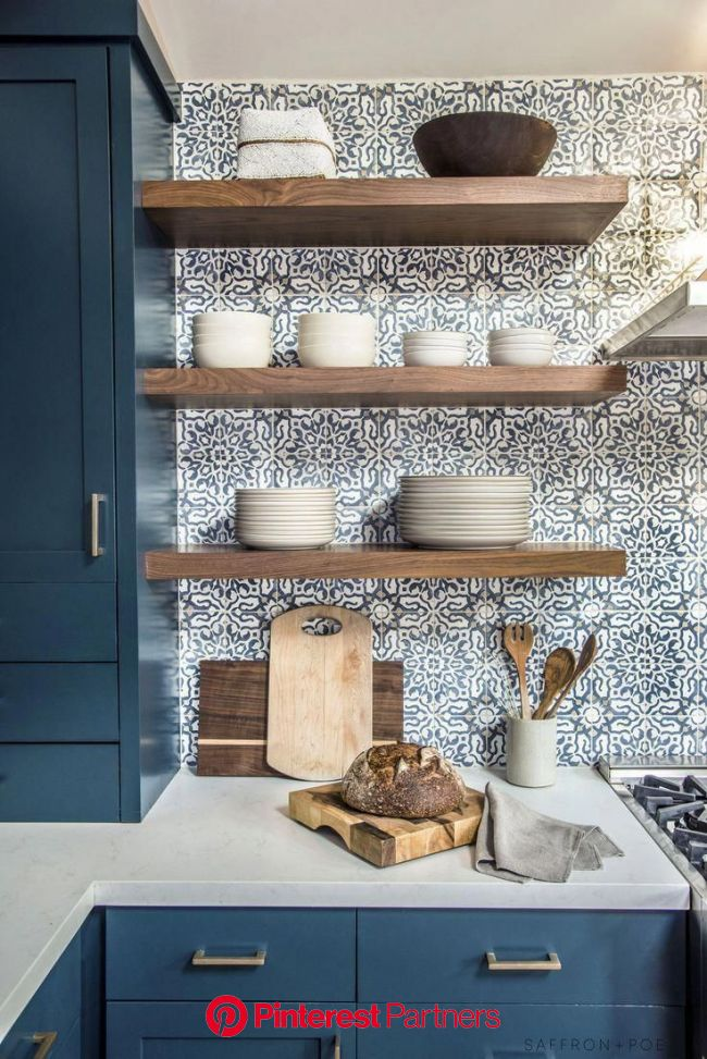 Small Kitchen Remodel Design | Kitchen remodel small, Farmhouse kitchen remodel, Blue kitchen cabinets