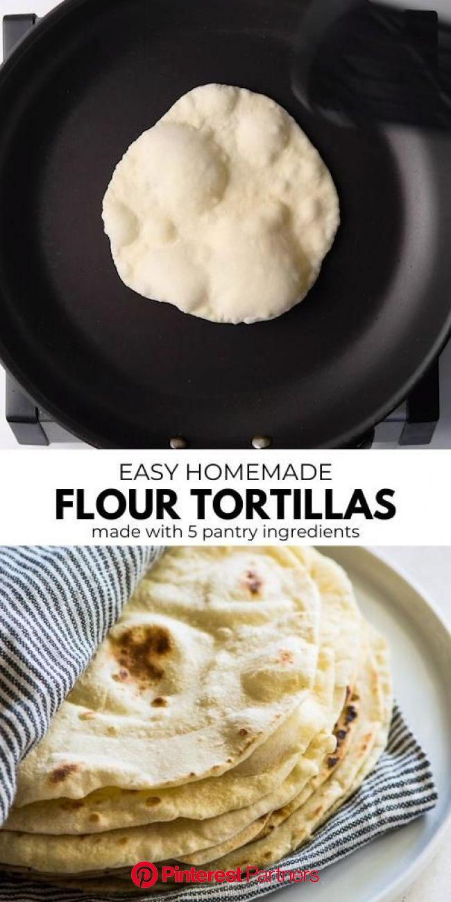 Easy Flour Tortillas [Video] | Recipe | Mexican food recipes, Yummy food, Cooking recipes