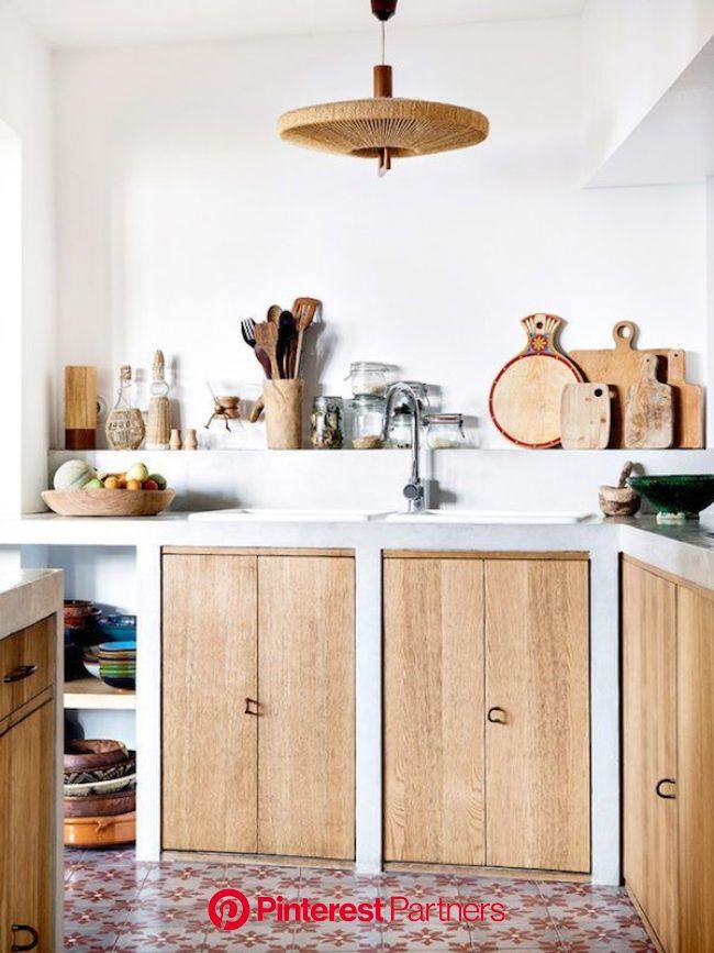Estilo bohemio en Marsella | Cocinas de obra, Cocinas rústicas modernas, Decoración de cocina