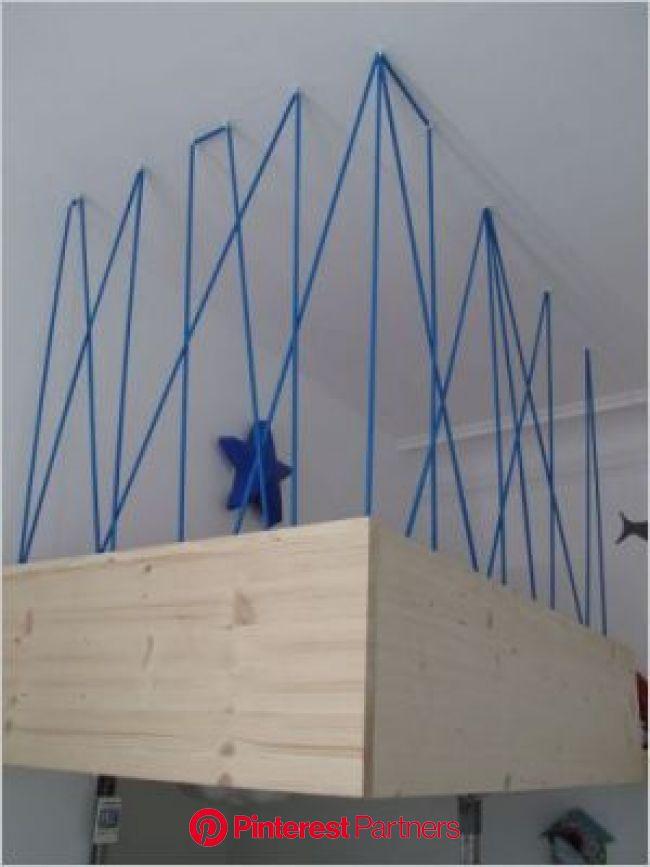 50 m2 optimisés pour une famillle   Escalier contemporain, Chambre enfant, Lit mezzanine enfant