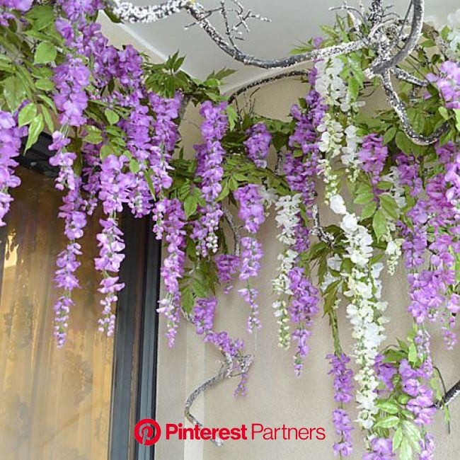 """42.1"""" High Quality Artificial Flower Wisteria Bine 1pc/set for Home Decor - USD $3.14 ! HOT Product! A hot prod…   Paper flower decor, Flower bed"""