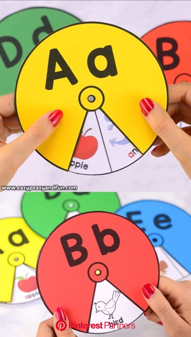 Printable Alphabet Spinners | Alphabet activities preschool, Alphabet preschool, Preschool learning