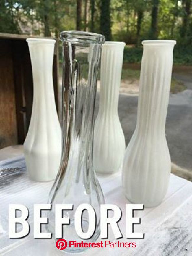 This made us want to drop everything and run to the Dollar Store for glass dishes. We are so stealing this! | Vase, Diy vase, Antique vase