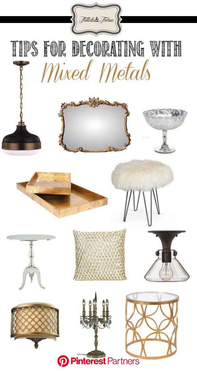 Mix It Up: Metals | Home decor, Decor, Home decor accessories