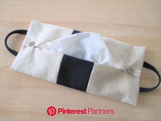 帆布トートバッグ型*BOXティッシュ詰め替えカバーの作り方|ティッシュケース|バッグ・財布・小物|アトリエ | 帆布トートバッグ, 帆布, 裁縫テクニック