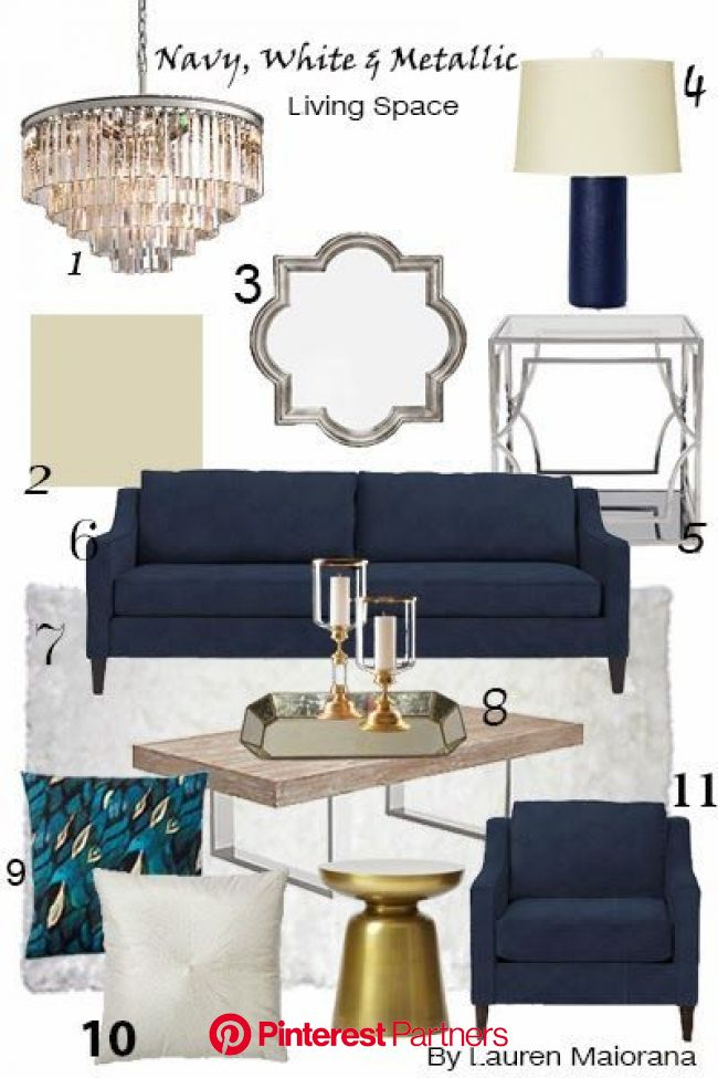 Our Quatrefoil Mirror & Cayman Coffee Table are sophisticated additions to @inspireme_interiordesign's Mixed Metallics mood board. #livingroo