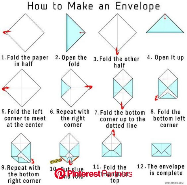 How to Make an Envelope (With images) | How to make an envelope, Origami envelope, Diy envelope