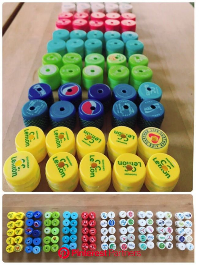 ペットボトルのキャップで100玉そろばんを手作り! | お片づけアカデミー | ペットボトルのキャップ, 手作り, 手作りおもちゃ ペットボトル