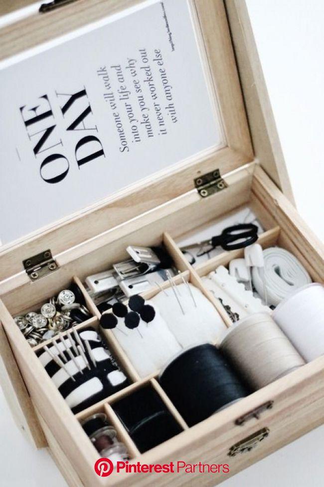 ●セリア*とっておき2段重ねソーイングボックス。きっちり仕切って実用、可愛さ抜群収納に● | 裁縫箱, ソーイングボックス, インテリア 収納
