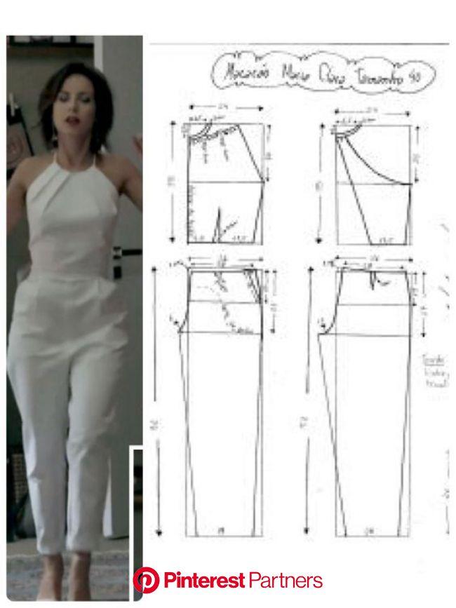 Cosemos monos de verano, ideas, patrones + master class de video.   Узоры для одежды, Модели брюк, Пошив модной одежды