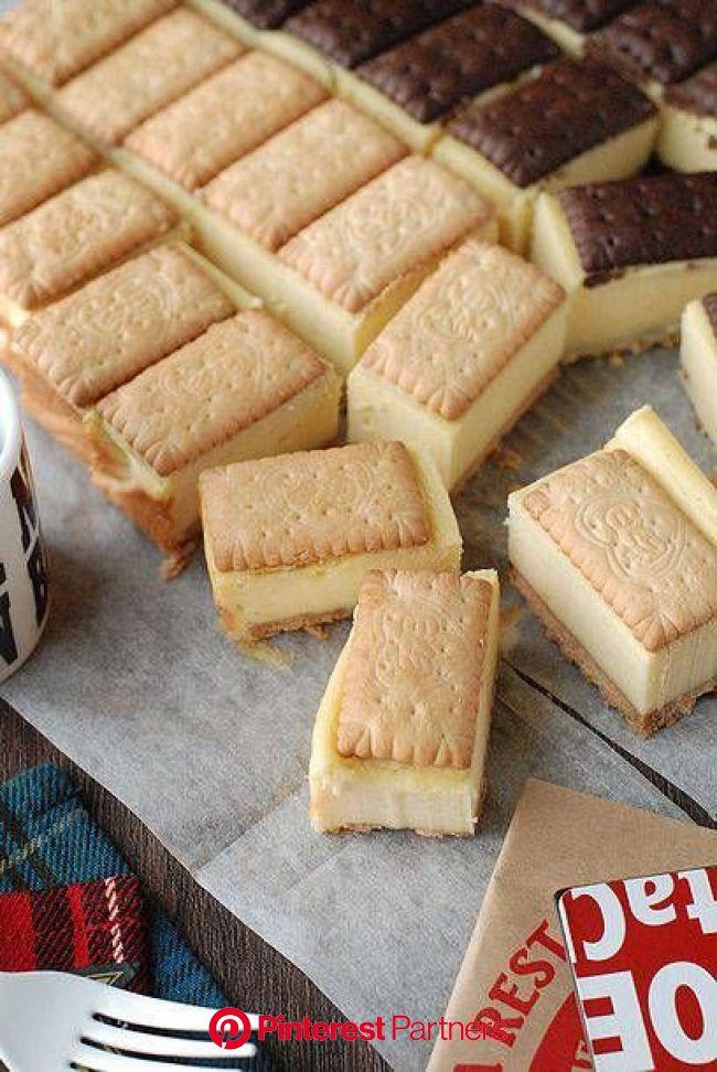 一口サイズが可愛い♡ビスコで作るチーズケーキサンド : うさぎ食堂へようこそ Powered by ライブドアブログ | スイーツ レシピ, お菓子 簡単, レシピ