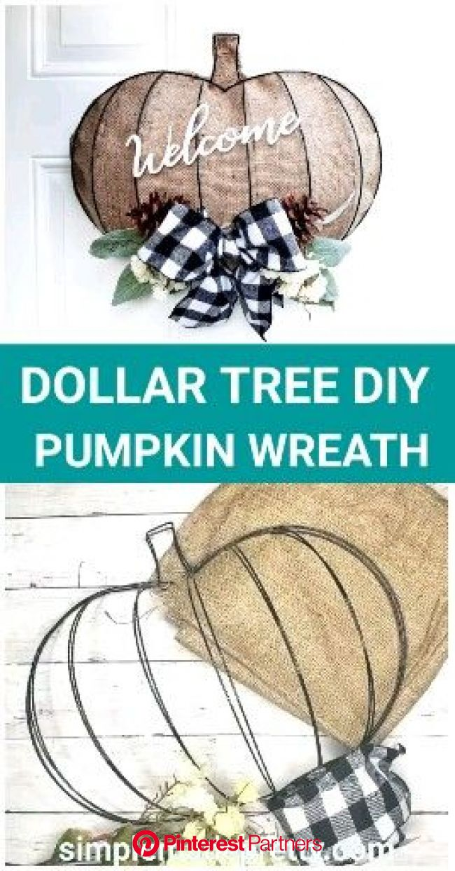 Diy Dollar Tree Pumpkin Wreath Form Video Video In 2020 Pumpkin Wreath Diy Dollar Tree Crafts Dollar Tree Pumpkins Sayo