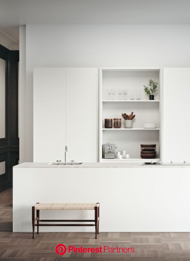 From monochromatic minimalism to laid-back luxury, this simple approach to kitchen design i… | Minimalist kitchen design, Minimal kitchen design, Mini