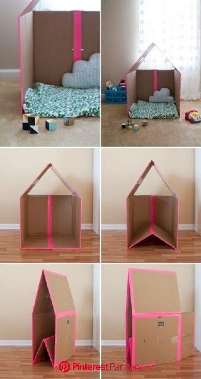 【エコDIY】簡単に作れる!子どもの喜ぶ段ボールハウスの作り方♡(画像あり) | 段ボール ハウス, ダンボール 家, プロジェクトのアイデア