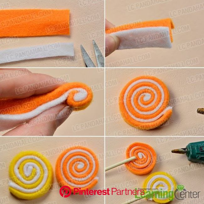 Wanna make craft for kids? If yes, you can never miss today's Pandahall tutorial on how to make colorful felt candy … | Crafts for kids, Candy costume