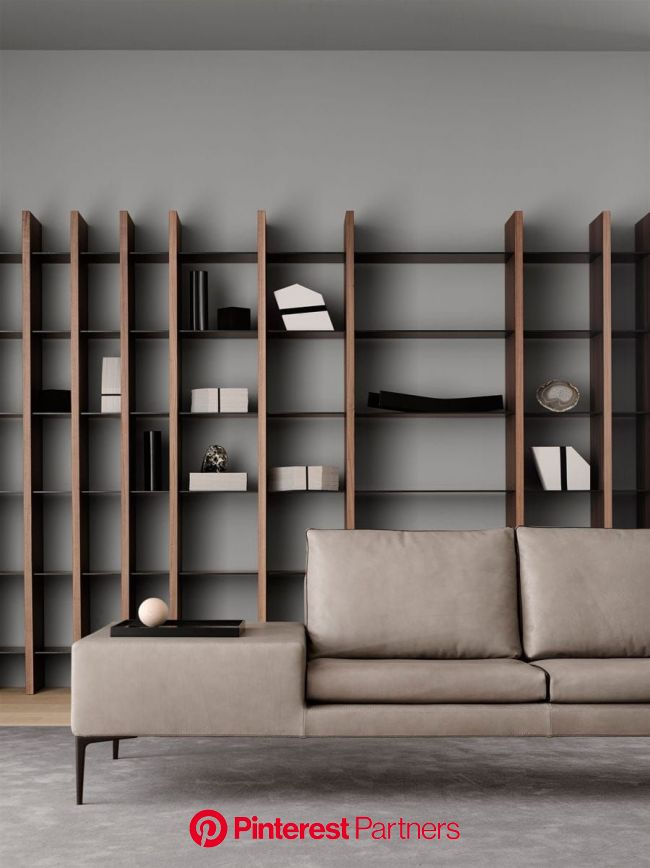 10 Cosmopolitan and Inspirational Designers From Paris | Wall shelves living room, Bookshelf design, Living room modern