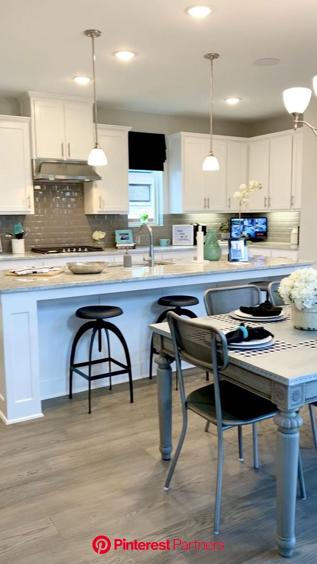How to Decorate your own home or Stage your home to sell [Video] [Video] (With videos) | Open concept kitchen living room, White kitchen open concept,