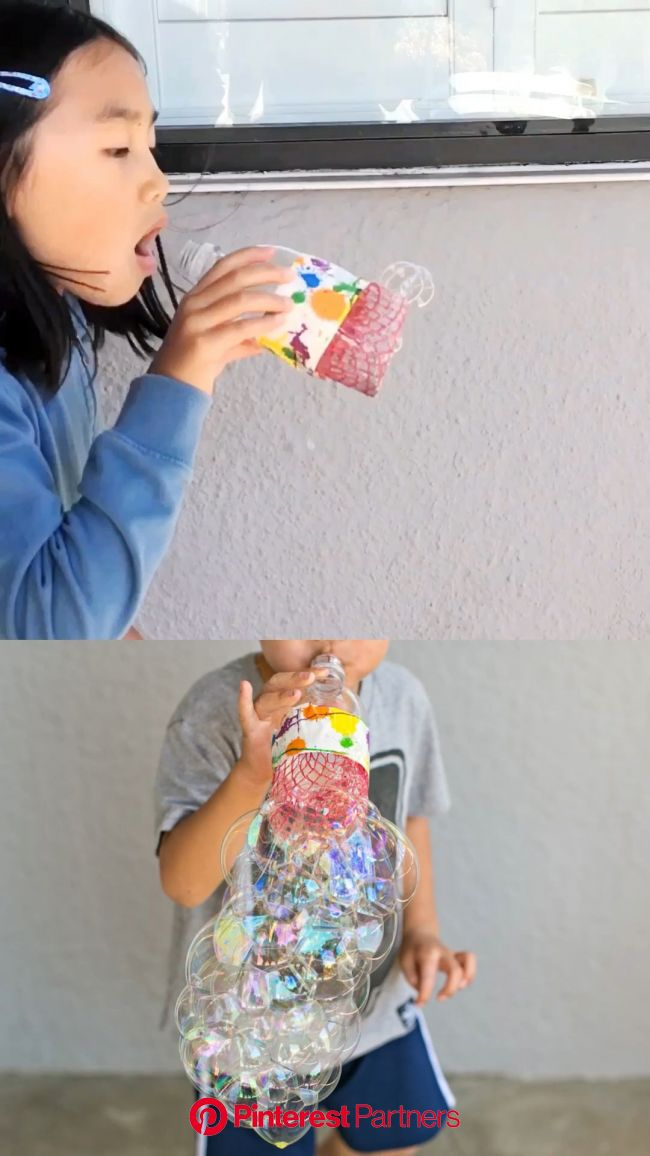 Recycle a bottle and make INCREDIBLE LARGE bubbles! [Video] [Video] | Kids bubbles, Bubble activities, Fun crafts for kids