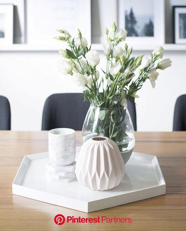 #regram from @heidi_lisa_loves featuring the Kmart concrete dipped glass vase!Tap for tags ???????? | Esstisch dekor, Dekor, Dekoration wohnzimmer
