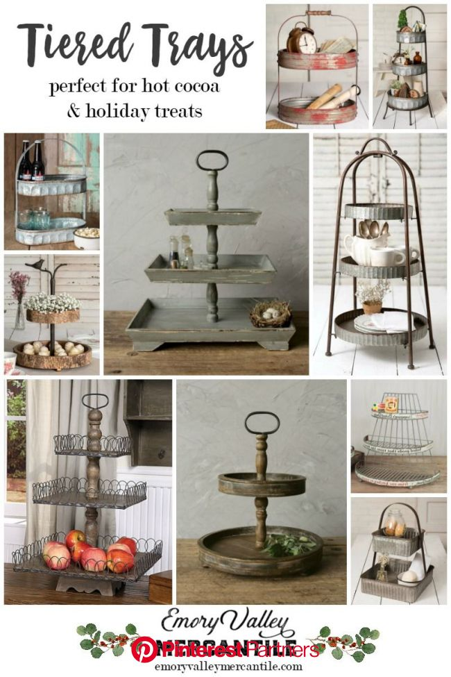 LOVE these tiered trays. They're so pretty and versatile! #christmas #homedecor   Tiered tray diy, Tiered tray, Tiered tray decor