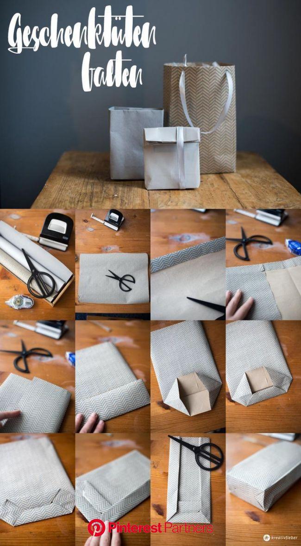 DIYギフトバッグは段階的に折り畳みます-任意のサイズのシンプルなギフト包装 #DIY Purse christmas gifts #折りたたみDIYギフトバッグと美しいクリスマスの儀式 in 2020 (mit Bildern) | Geschenktüte basteln, Geschenktü