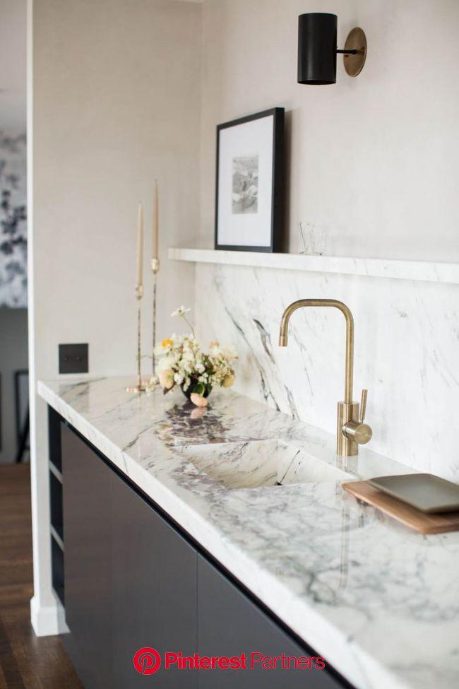 Catherine Kwong's Minimalist Penthouse   Rue   Beautiful kitchens, Kitchen interior, Kitchen marble