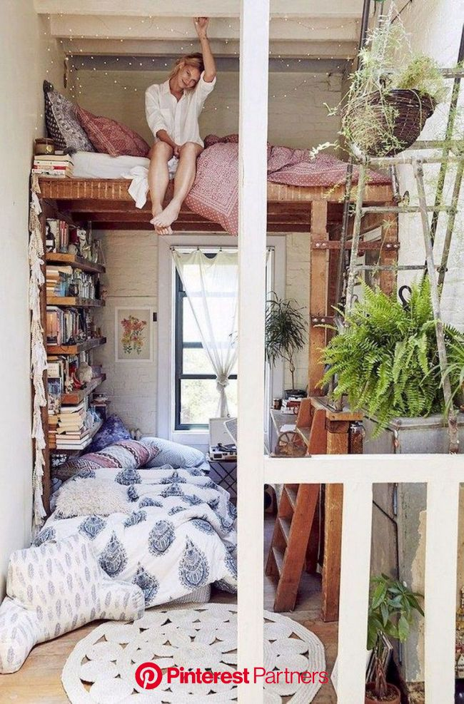 63+ Sweety DIY Hipster Bedroom Decorations Ideas (With images) | Cozy apartment, Bedroom decor, Bedroom design