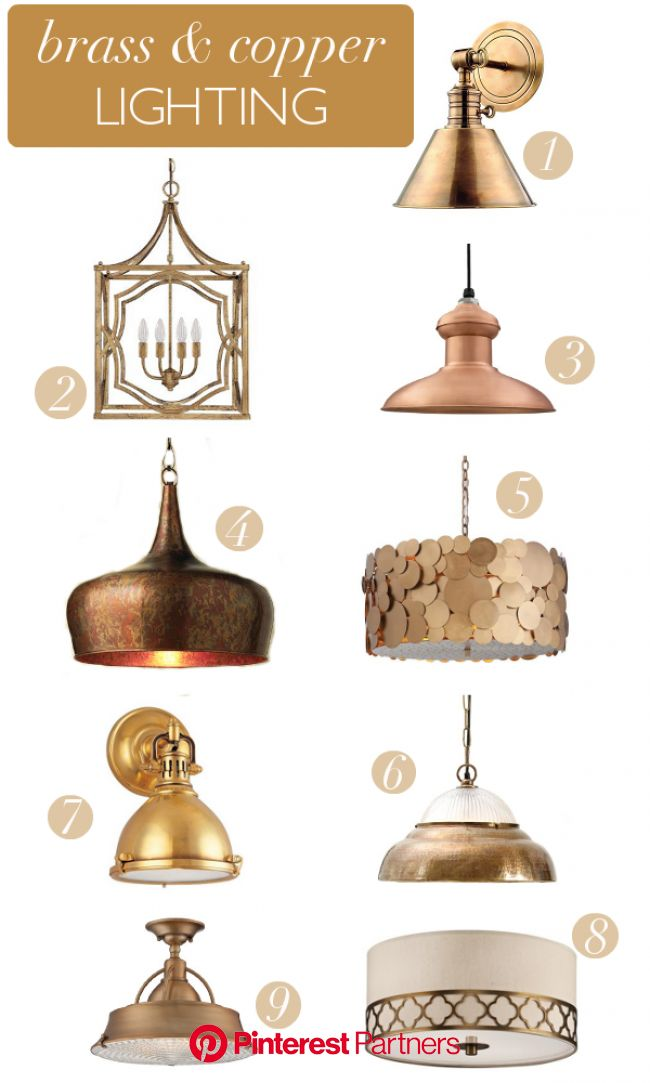 Brass & Copper Light Fixtures | Copper lighting, Copper light fixture, Light fixtures