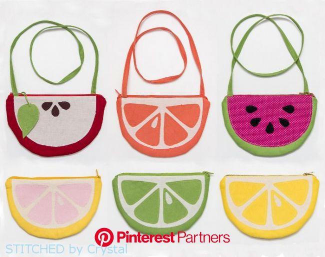 無料型紙 フルーツ型ポーチ&ポシェットの作り方 | 無料ハンドメイド型紙まとめ | ファスナーバッグ, フェルトポーチ, ハンドメイド