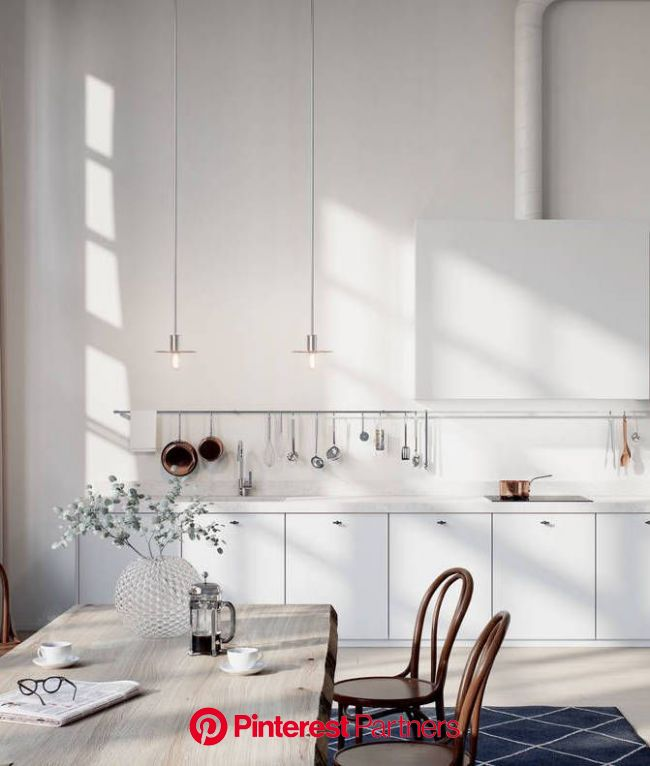 Beautiful 3D kitchen - COCO LAPINE DESIGN | Kitchen design, Scandinavian kitchen, Kitchen dining room
