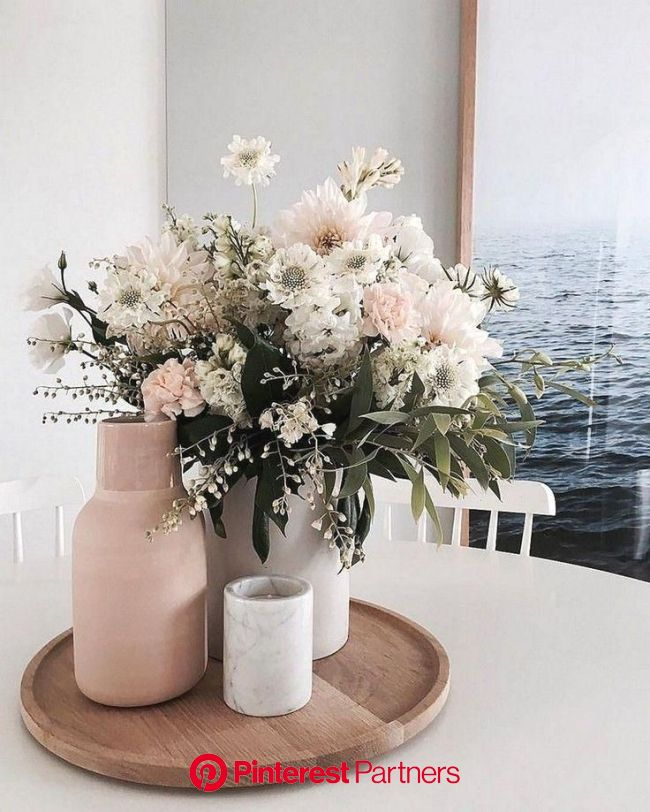 Cute floral centerpiece for your home! in 2020 | Dining table decor, Table decor living room, Center table decor