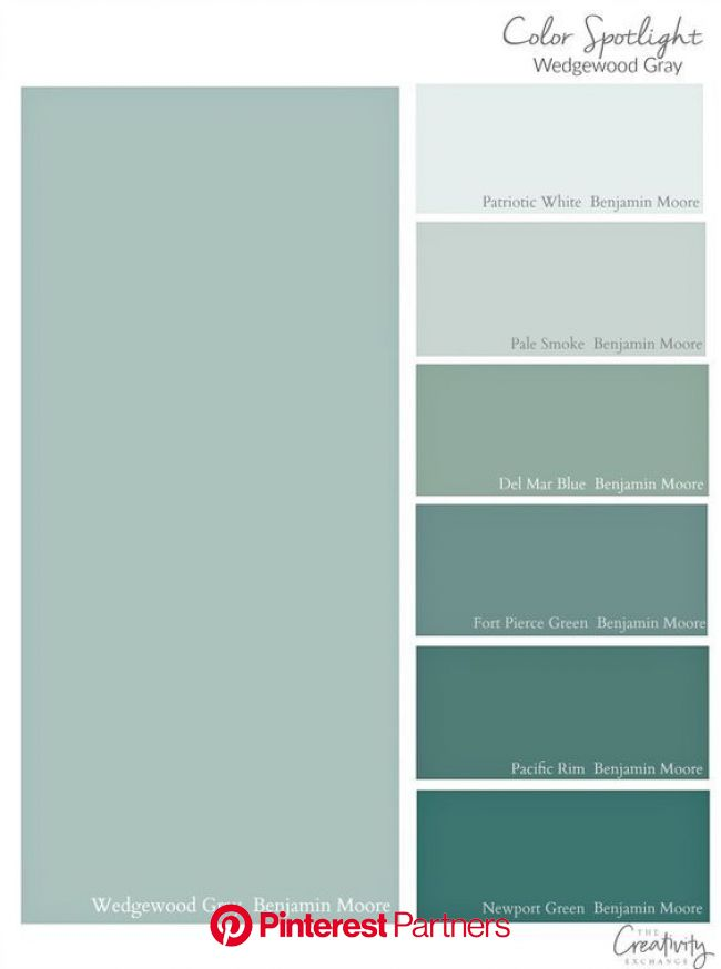 Benjamin Moore Wedgewood Gray: Color Spotlight | Green paint colors, Benjamin moore wedgewood gray, House colors