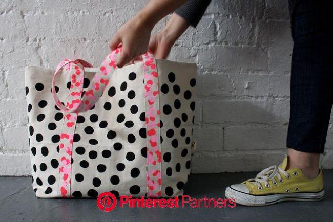 Harvest Textiles Dot Spot Tote | Fabric bags, Bags, Textile bag