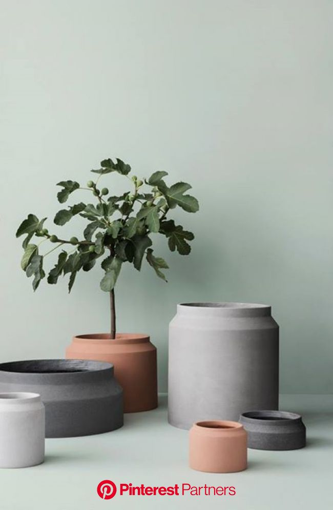 AW 2015 Collection by Ferm Living - Sarah Le Donne Blog | Planter pots indoor, Large plant pots, Concrete pots