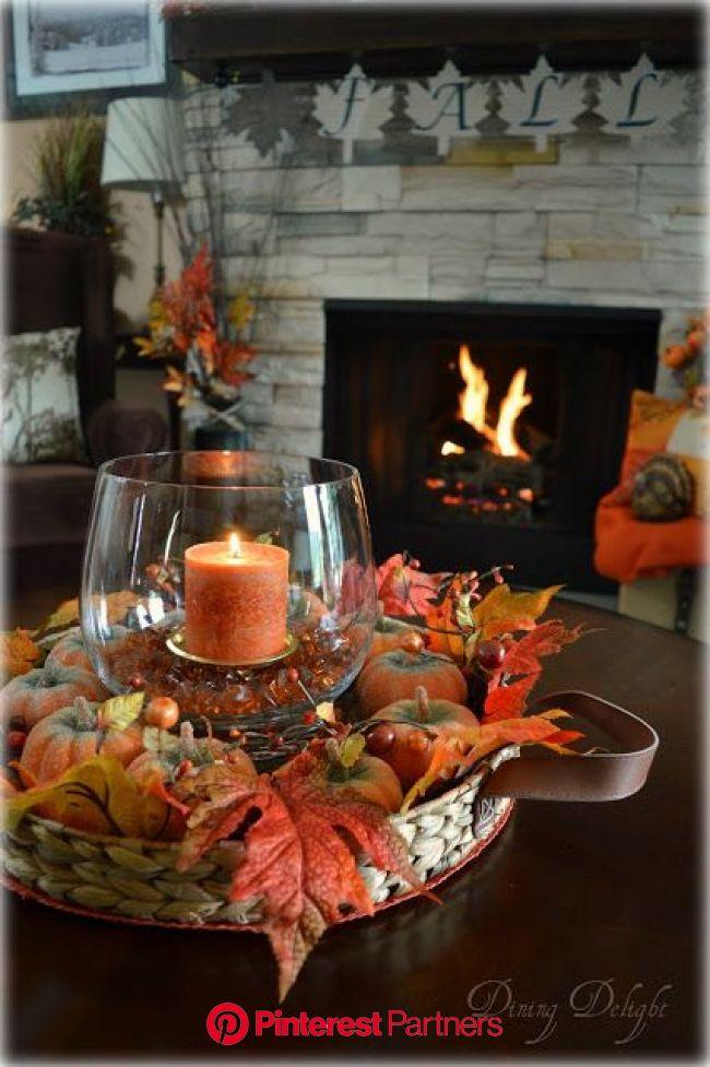 Fall Coffee Table Centerpiece | Fall thanksgiving decor, Fall coffee table, Coffee table centerpieces