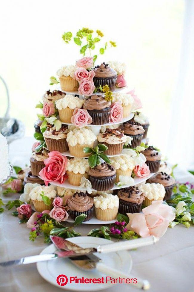 ortrageous   Wedding cakes with cupcakes, Wedding cupcakes, Cupcake cakes