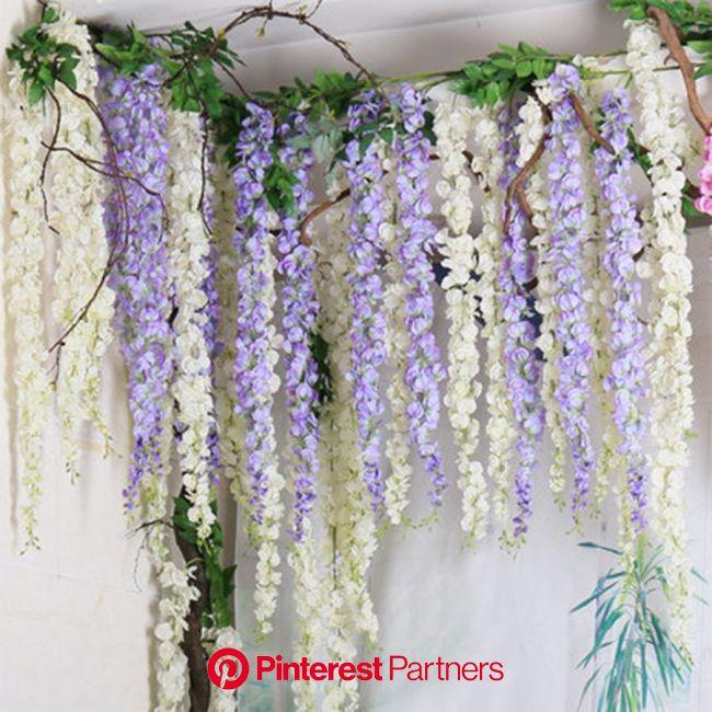 Artificial Flowers Silk Rose For Decoration Wedding Pompom Bouquet Plastic Hydrangea Home Decor Christmas Fa…   Fake flowers decor, Paper flowers diy,