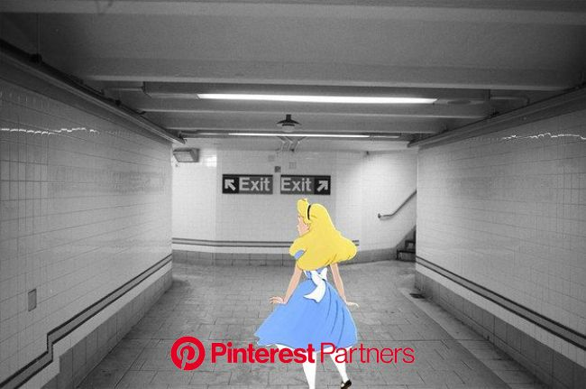 This Artist Puts Disney Characters Into Real-Life Situations   Disney art, Disney characters, Alice in wonderland