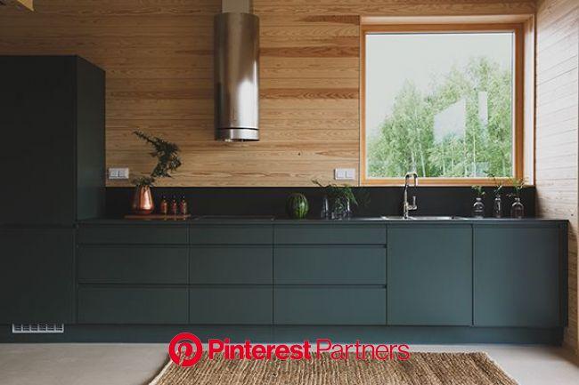 Puustelli on Behance | Cabin kitchens, Modern cabin, Lake house interior