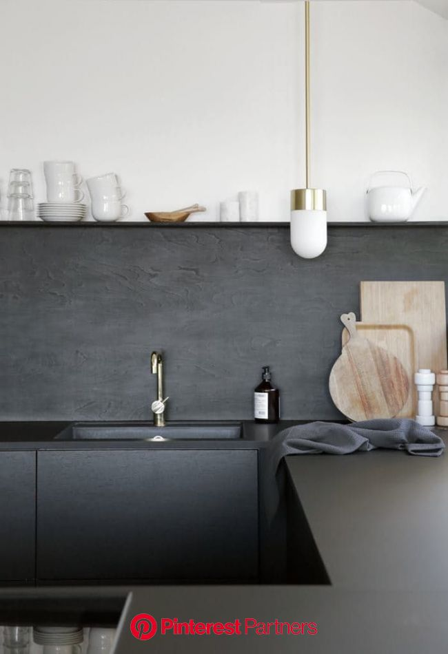 Trend Spotting: Matte is Back (And Looks Better Than Ever) (With images) | Black kitchens, Rustic kitchen design, Interior