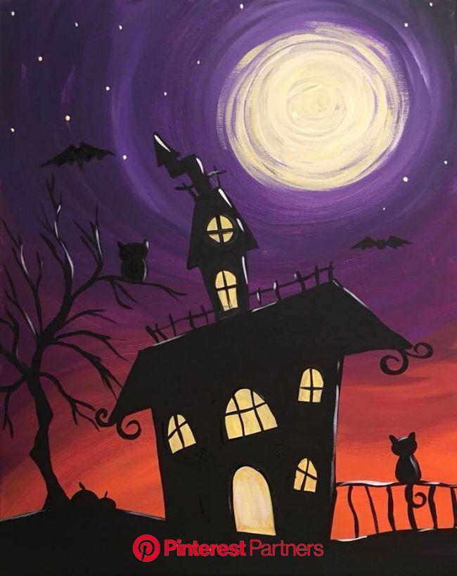 Acrylic Painting Tips and Tutorials | Halloween painting, Halloween canvas paintings, Halloween canvas