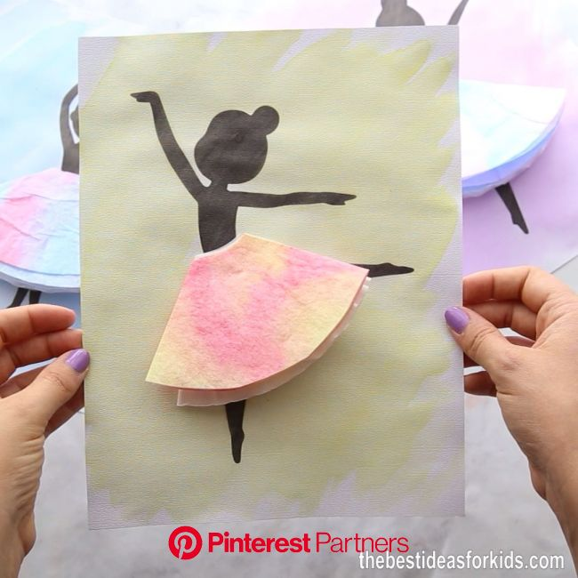 Ballerina Silhouette [Video] [Video] (With videos) | Fun crafts for kids, Crafts for kids, Paper crafts diy