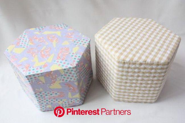 牛乳パック椅子の作り方とカバーの張り方(六角形)|牛乳パック工作 | Milk carton crafts, Handmade, Diy, crafts