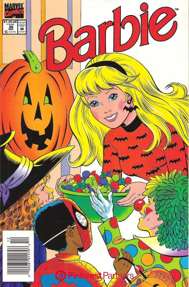 Happy Halloween! Barbie #36 | Cartoon posters, Retro poster, Vintage cartoon