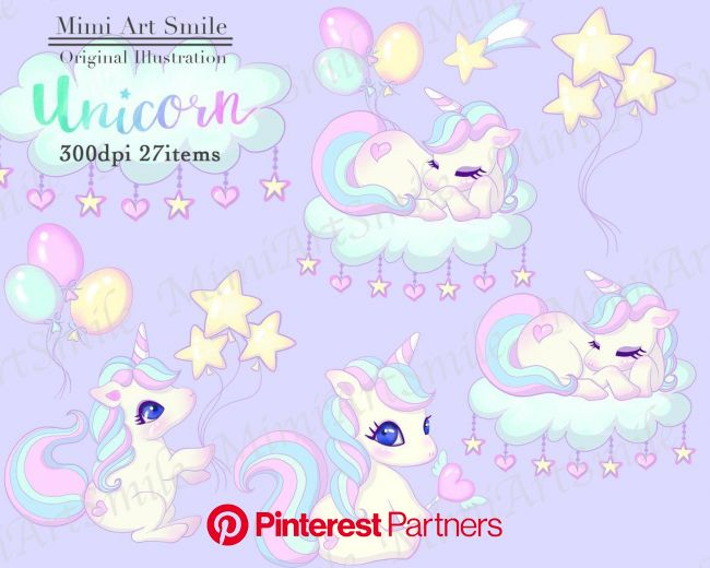 Cute Unicorn Clipart Set Rainbow Unicorns Clip art Digital | Etsy | Unicorns clipart, Cute unicorn, Clip art