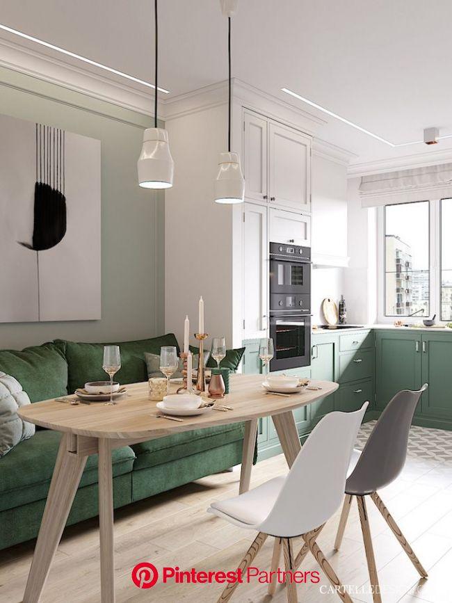3 pièces de Saint Pétersbourg - Blog déco - Clem Around The Corner | Table à manger cuisine, Salle à manger verte, Déco salle à manger