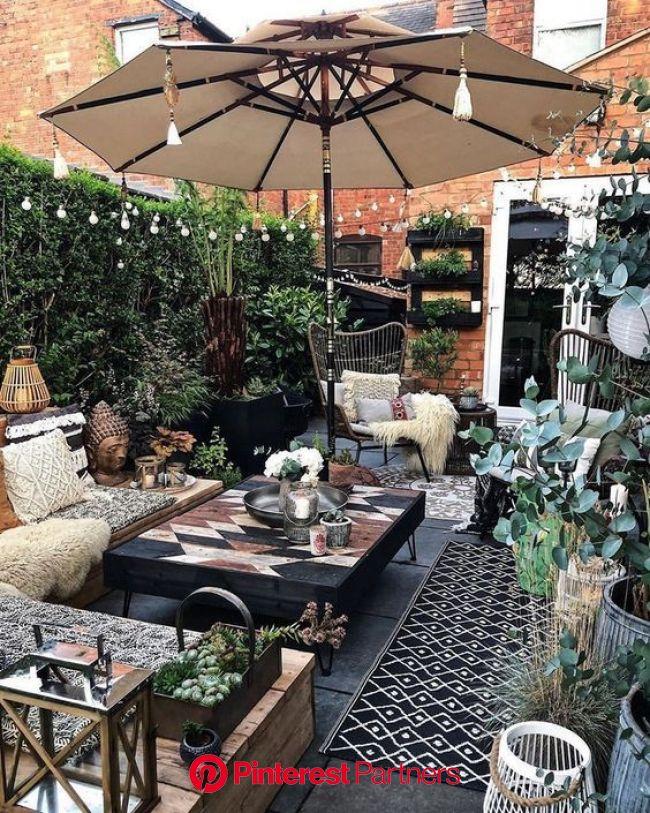 My plans for creating a scandi boho garden snug outdoor area!   Backyard patio, Boho patio, Backyard patio designs