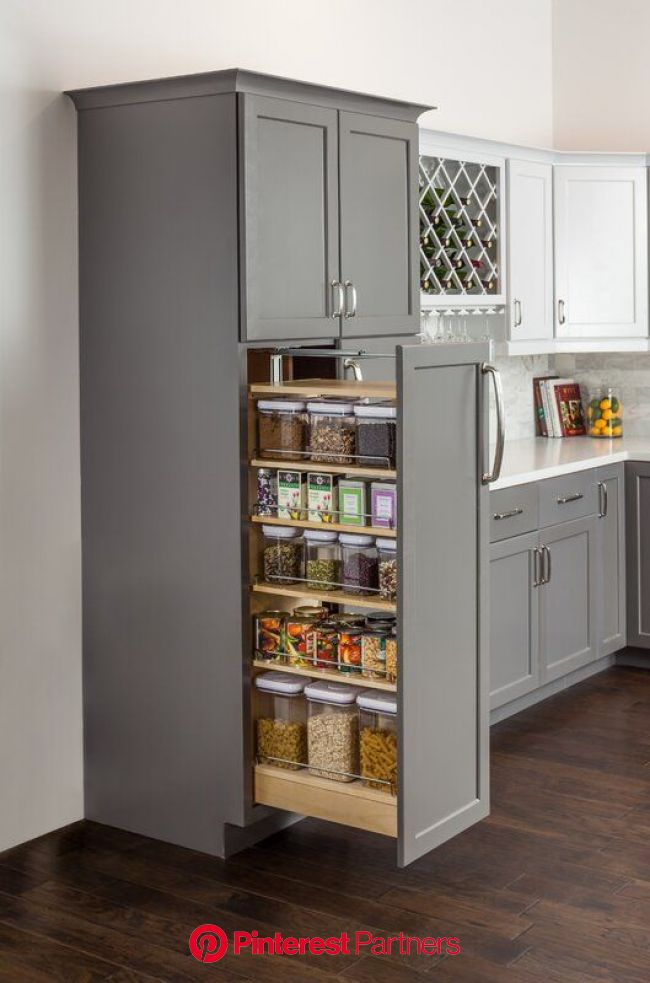 Hardware Resources Wood Cabinet Pull Out Pantry | Perigold | Kitchen remodel small, Diy kitchen renovation, Kitchen cabinet design