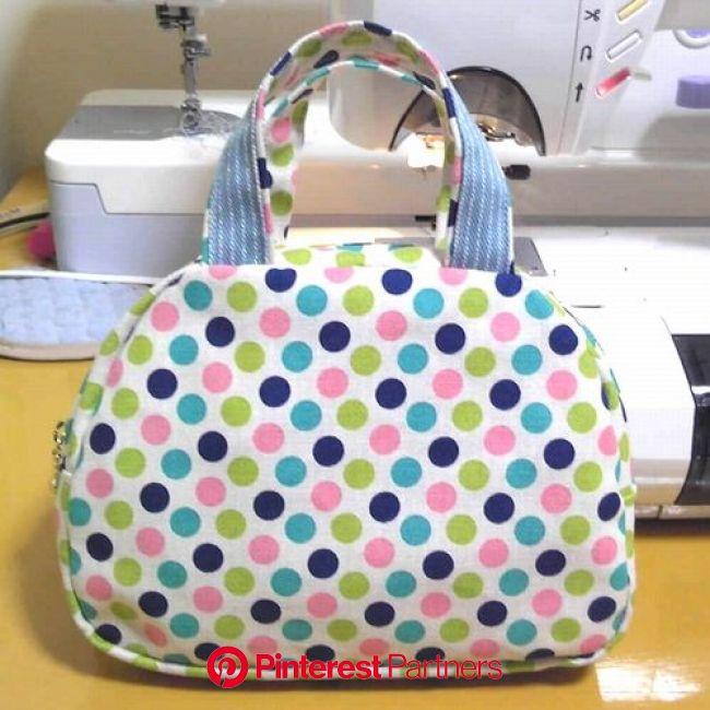 てづくり&ふりま ◆◆ミニボストンバッグ(裏地なし)の作り方◆◆ | ボストンバッグ, バッグ型紙, ハンドメイド バッグ 作り方
